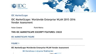 Idc marketscape worldwide enterprise wlan vendor assessment.pdf thumb rect large320x180