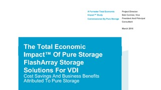 Forrester report total economic impact of pure storage flasharray storage solutions for vdi.pdf thumb rect large320x180