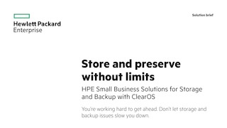 Hpesmbsolutionsforstorageandbackupwithclearos solutionbrief.pdf thumb rect large320x180