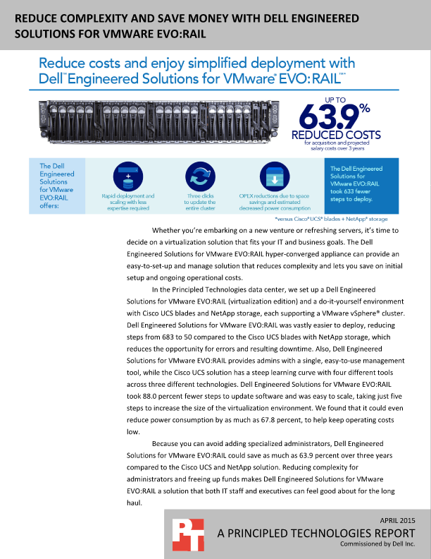 Dell Engineered Solutions for VMware EVO:RAIL - Irvine, United