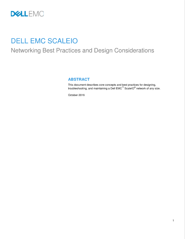 ScaleIO Ready Node - Hopkinton, United States of America | Dell EMC