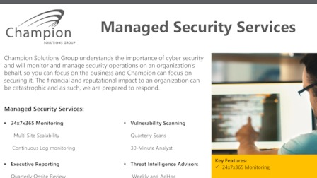 Managed Security Services - Boca Raton, United States of