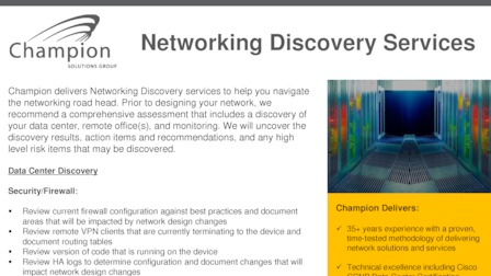 Networking Solutions - Champion Solutions Group