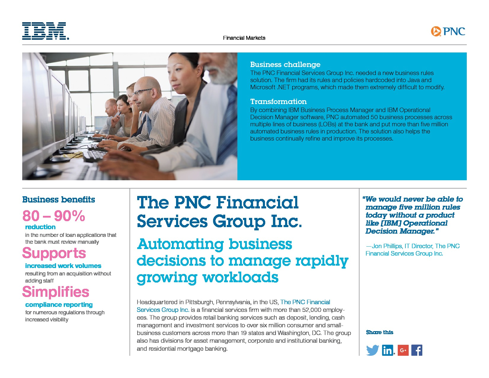 Case Study: PNC Bank uses BPM and ODM to reduce manual loan app