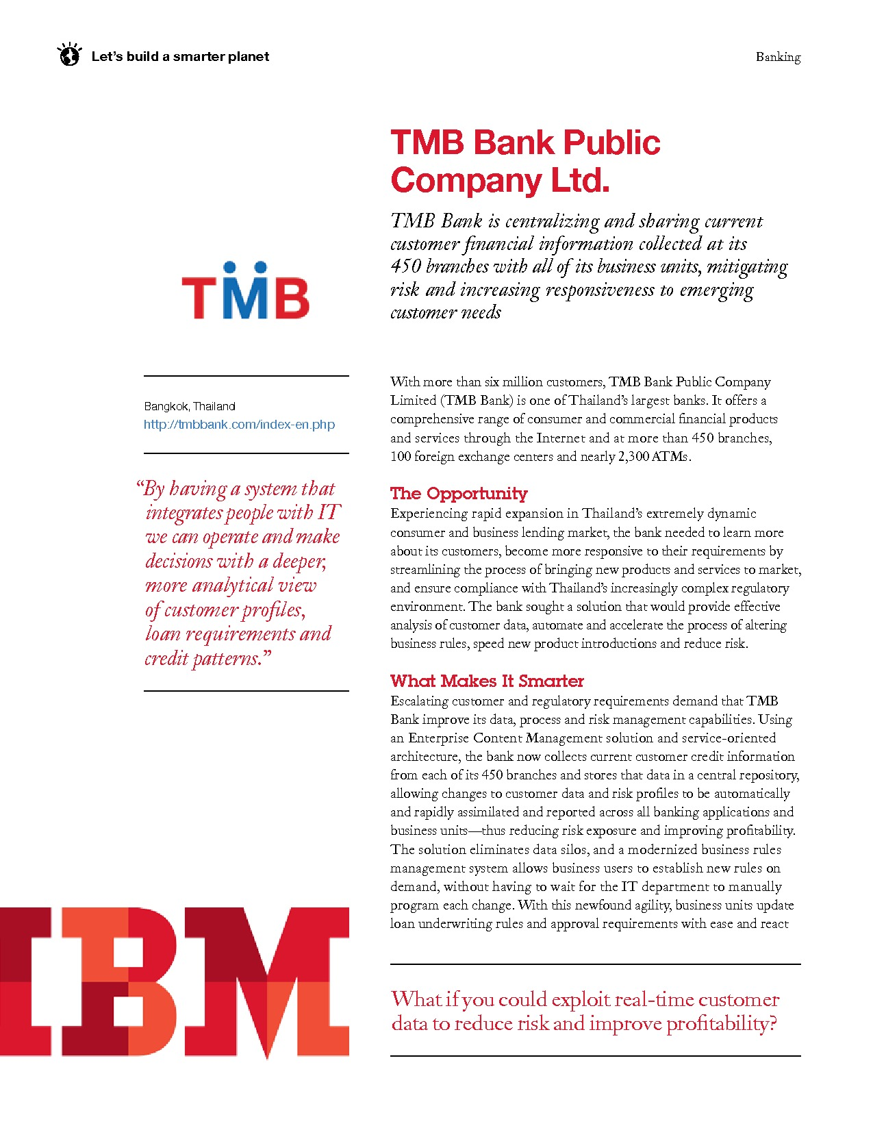 Case Study: Tmb Bank Uses ECM to Reduce Loan Processing Time