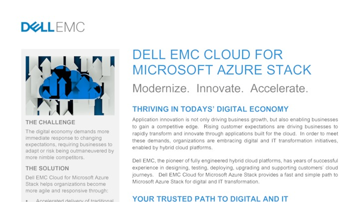 Dell EMC Cloud for Microsoft Azure Stack - Austin, United States of