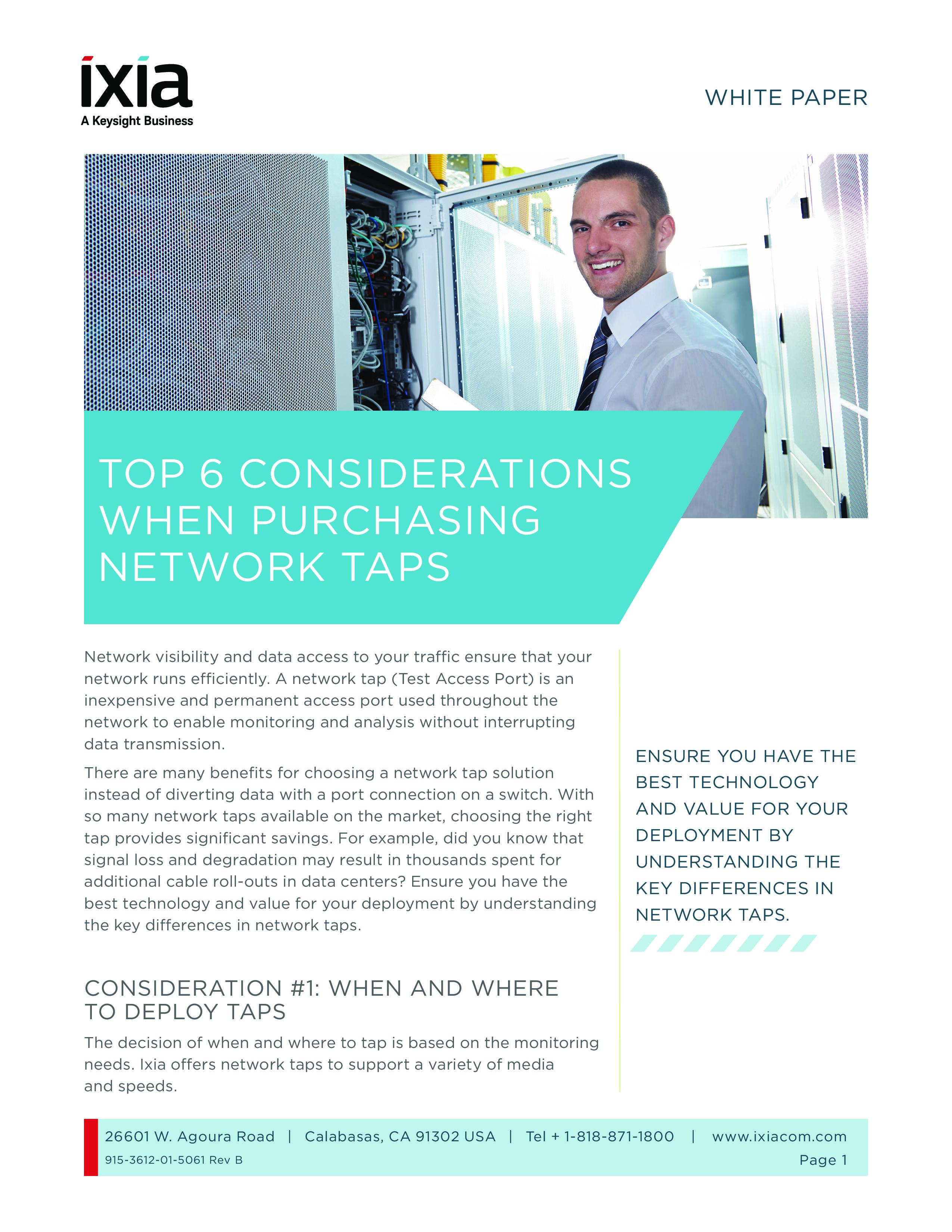 Access Vital Network Data Using Taps (and Why They're Better