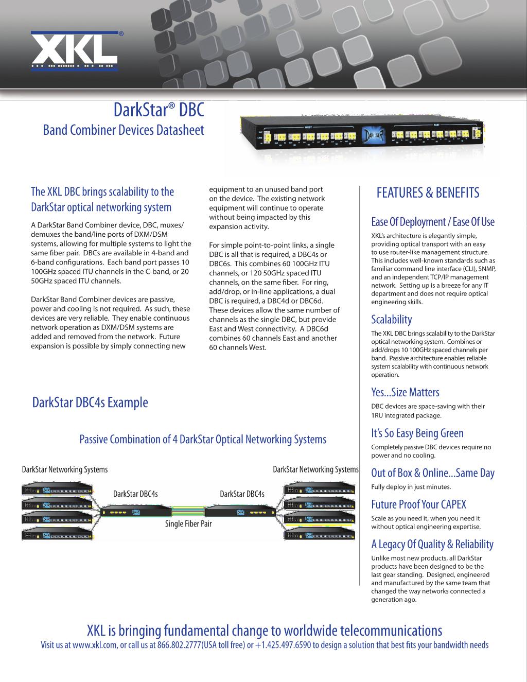 Datasheet: DBC Optical Combiners - Redwood City, United States of
