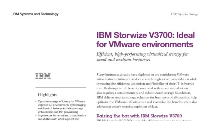 VMware data protection with the IBM Storwize family - Austin