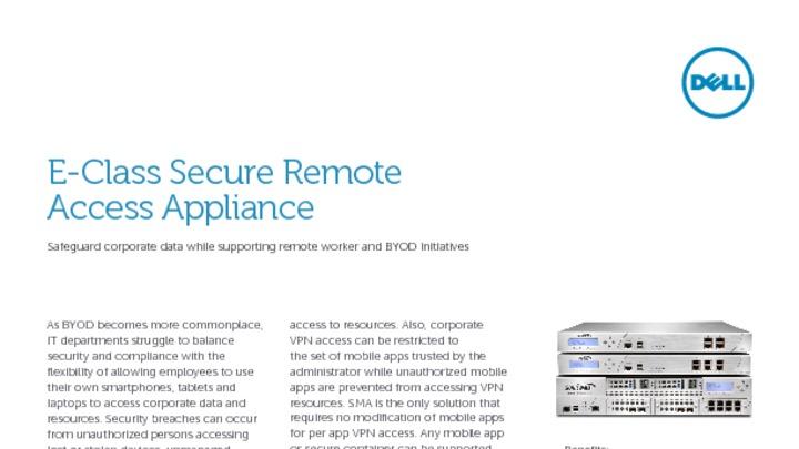 Dell SonicWALL SSL VPN Secure Remote (Mobile) Access