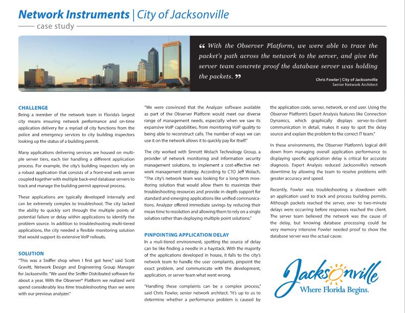 Case Study: City Of Jacksonville Florida - Redwood City